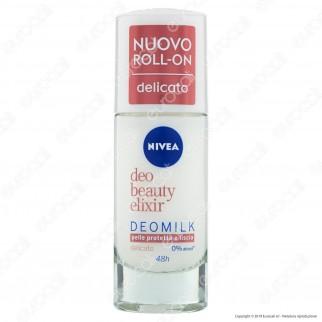 Nivea Deo Beauty Elixir Deodorante Roll-On Antitraspirante Delicato Senza Alcool - Flacone da 40ml