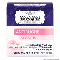 Acqua alle Rose Crema Viso Antirughe Sensitive - Confezione da 50ml