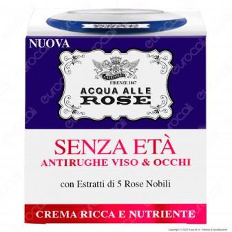 Acqua alle Rose Crema Maschera Senza Età Antirughe Viso e Occhi - Confezione da 50ml