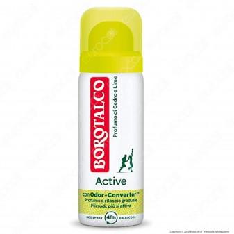 Borotalco Deodorante Spray Active Minisize Cedro & Lime - Flacone da 50ml