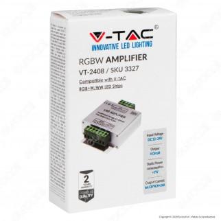 V-Tac VT-2408 Amplificatore di Segnale Max 16A per Controller di Strisce LED RGB+W 12-24V - SKU 3327