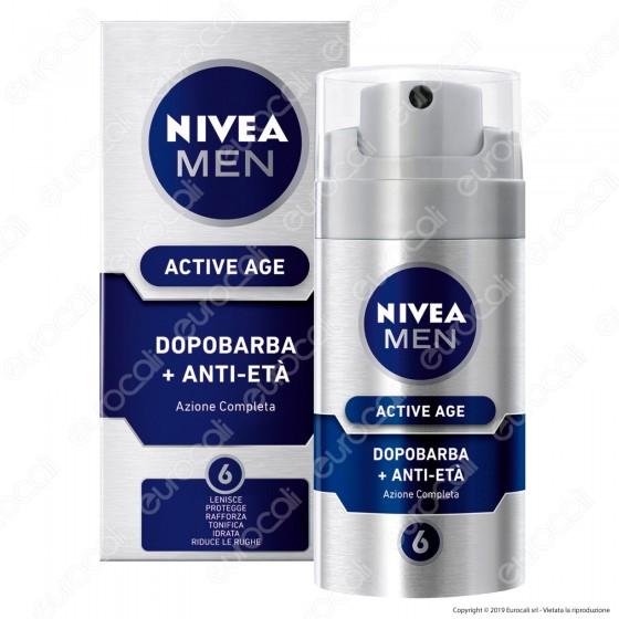 Nivea Men Active Age Dopobarba Anti-Età Lenitivo Idratante Anti-Rughe - Flacone da 75ml