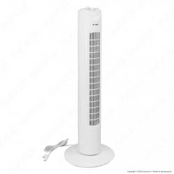 V-Tac VT-4538 Tower Fan Ventilatore 45W Torretta da Terra Colore Bianco con Oscillazione e 3 Velocità - SKU 7926