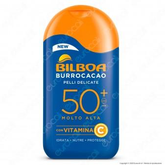 Bilboa Latte Solare Burrocacao Protezione Molto Alta SPF 50+ Pelli Delicate - Flacone da 200ml