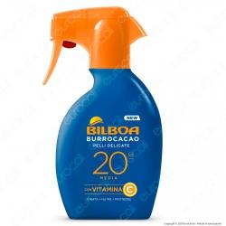 Bilboa Spray Solare Burrocacao Protezione Media SPF20 Pelli Delicate - Flacone da 250ml