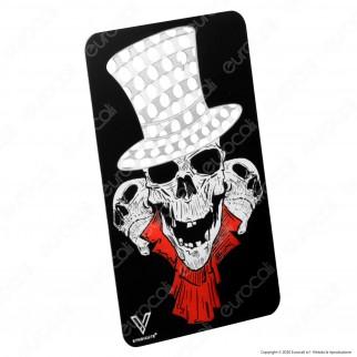 Grinder Card Formato Tessera Tritatabacco in Metallo - Teschio