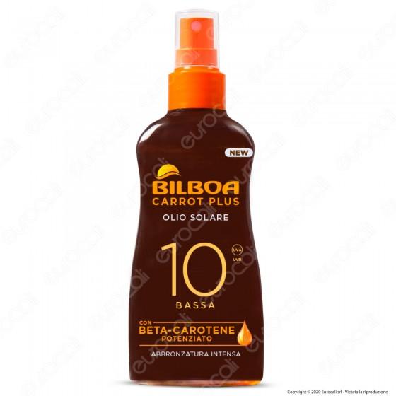 Bilboa Olio Solare Carrot Plus Protezione Bassa SPF10 - Flacone da 200ml