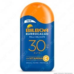 Bilboa Latte Solare Burrocacao Protezione Alta SPF 30 Pelli Delicate - Flacone da 200ml