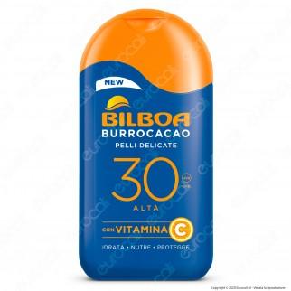 Bilboa Latte Solare Burrocacao Protezione Alta SPF30 Pelli Delicate - Flacone da 200ml