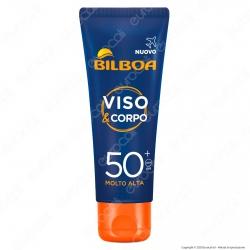 Bilboa Crema Solare Viso e Corpo Protezione Molto Alta SPF50+ - Flacone Formato Viaggio da 75ml