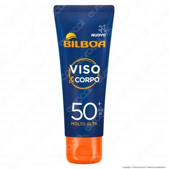 Bilboa Crema Solare Viso e Corpo Protezione Molto Alta SPF 50+ - Flacone Formato Viaggio da 75ml