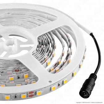 V-Tac Striscia LED 5050 Monocolore 60 LED/metro 24V - Bobina da 5 metri - SKU 2431 / 2459 / 2430