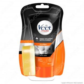 Kit Risparmio Veet For Men Silk & Fresh Crema Depilatoria Sotto la Doccia per Pelli Normali - 3 Tubetti da 150ml