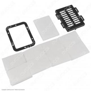 Mascherina Filtrante Rigida in Plastica Trasparente Pluriuso Igienizzabile con 10 Filtri in TNT 3 Strati