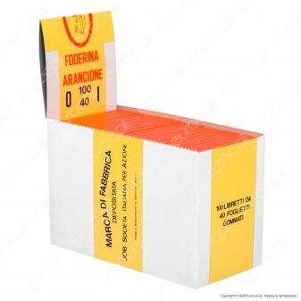 PROV-A00224014 - Cartine JOB Foderina Arancione Corte - Scatola da 100 Libretti