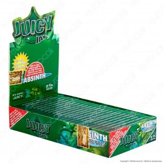PROV-A00228001 - Cartine Juicy Jay's Corte 1¼ Aroma Assenzio - Scatola da 24 Libretti