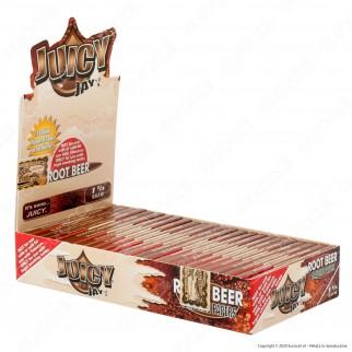PROV-A00235001 - Cartine Juicy Jay's Corte 1¼ Aroma Root Beer - Scatola da 24 Libretti