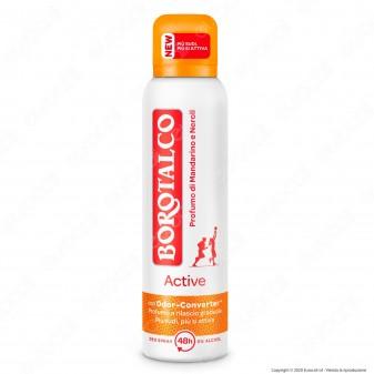 Borotalco Deodorante Spray Active Mandarino e Neroli - Flacone da 150ml