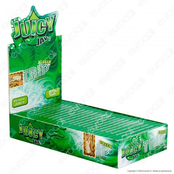 PROV-A00237001 - Cartine Juicy Jay's Corte 1¼ Aroma Trip Mentolo - Scatola da 24 Libretti