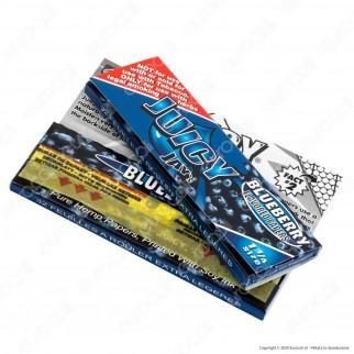 PROV-A00234001 - Cartine Juicy Jay's Corte 1¼ Aroma Mirtillo - Scatola da 24 Libretti