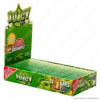 PROV-A00233001 - Cartine Juicy Jay's Corte 1¼ Aroma Mela Verde - Scatola da 24 Libretti