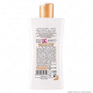 Omia Latte Solare Ecobiologico Olio di Argan SPF20 Protezione Media - Flacone da 200ml