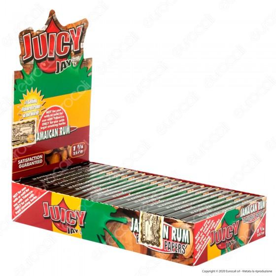 PROV-A00236001 - Cartine Juicy Jay's Corte 1¼ Aroma Rum Giamaicano - Scatola da 24 Libretti