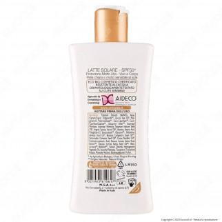 Omia Latte Solare Ecobiologico Olio di Argan SPF50+ Protezione Molto Alta - Flacone da 200ml