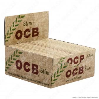 PROV-A00258001 - Cartine Ocb Organic Hemp King Size Slim Canapa Biologica Lunghe - Scatola da 50 Libretti