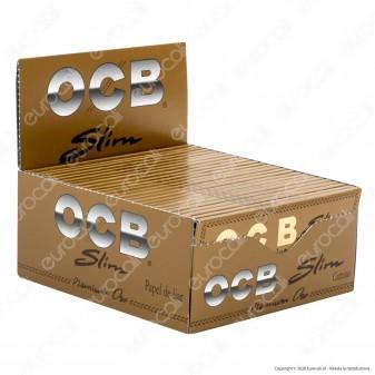 PROV-A00260001 - Cartine Ocb Premium Oro King Size Lunghe Slim - Scatola da 50 Libretti