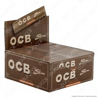 PROV-A00267001 - Cartine Ocb Virgin Paper King Size Slim Senza Cloro Lunghe - Scatola da 50 Libretti