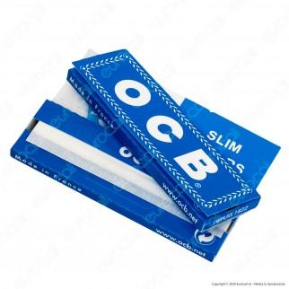 PROV-A00251002 - Cartine Ocb Blu Canapa e Lino Corte - Scatola da 25 Libretti