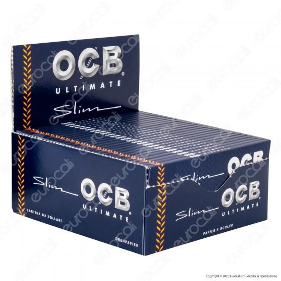 PROV-A00263001 - Cartine Ocb Ultimate King Size Slim Lunghe - Scatola da 50 Libretti