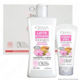 Omia Trattamento Viso Visage Beauty Routine Idratante e Nutriente Ecobio Mandorla e Malva - Confezione da 2pz.