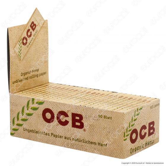 PROV-A00256002 - Cartine Ocb Organic Hemp Corte Canapa Biologica - Scatola da 50 Libretti