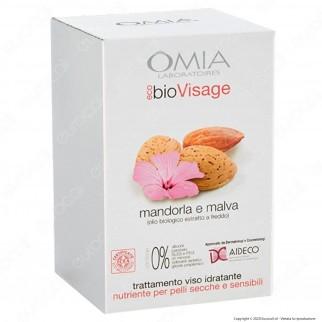 Omia Trattamento Viso EcoBio Visage Beauty Essential alla Mandorla e Malva e Olio di Argan - Confezione da 2pz.