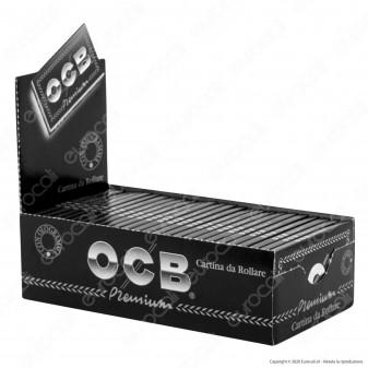 PROV-A00253005 - Cartine Ocb Nere Premium Corte Doppie - Scatola da 25 Libretti