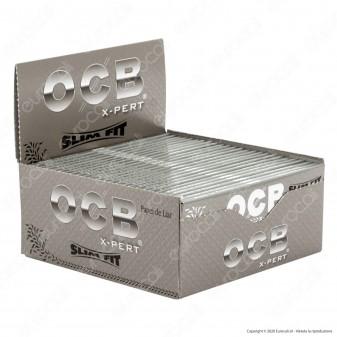 PROV-A00270001 - Cartine Ocb X-pert Argento King Size Slim Fit Lunghe - Scatola da 50 Libretti
