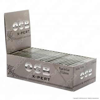 PROV-A00269005 - Cartine Ocb X-Pert Argento Corte Doppie - Scatola da 25 Libretti
