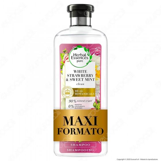 Herbal Essence Shampoo Capelli Fragola Bianca e Menta Dolce - Flacone da 400ml