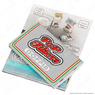 PROV-A00274005 - Cartine Pop Filters Corte Doppie Italia Silver Line - Scatola da 25 Libretti