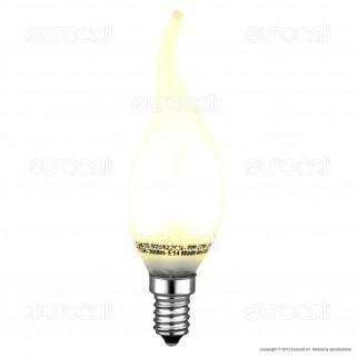 Life Serie Fiamma Lampadina LED E14 4W Candela Filamento in Vetro Frost
