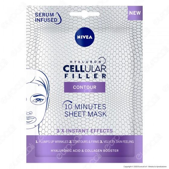 Nivea Hyaluron Cellular Filler Maschera Viso Anti-Rughe in Tessuto Monouso 10 Minuti
