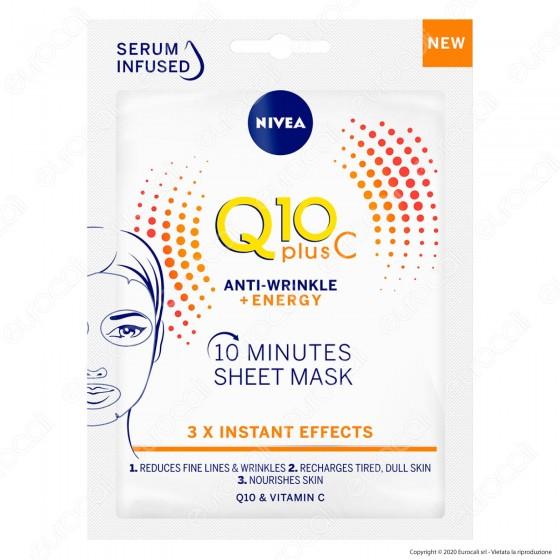 Nivea Q10 Plus Vitamina C Anti-Rughe Energizzante Maschera in Tessuto Monouso 10 Minuti