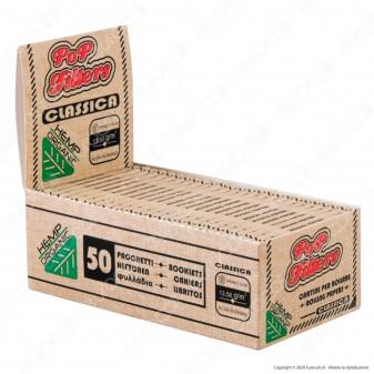PROV-A00280002 - Cartine Pop Filters Corte Organic Hemp - Scatola da 50 Libretti