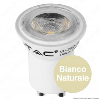V-Tac VT-2002 Lampadina LED GU10 MR11 2W Faretto Spotlight 38° - SKU 7167 / 7168 / 7169