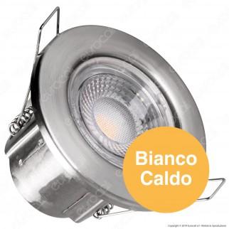 V-Tac PRO VT-885 Faretto LED 5W da Incasso Rotondo Nichel Satinato Dimmerabile IP65 - SKU 8173 / 8174 / 8179