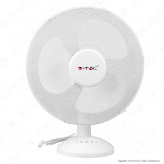 V-Tac VT-4017-3 Ventilatore da Tavolo 40W 3 Pale in Plastica Colore Bianco Diametro 410mm - SKU 7925