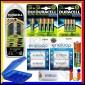 Duracell Cef22 + 8 Pile Ricaricabili Stilo AA + 4 Pile Ricaricabili Ministilo AAA + Convertitori Da AA a C/d + Portabatterie
