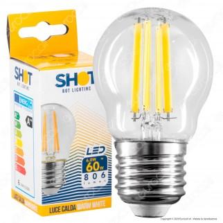 Bot Lighting Shot Lampadina LED E27 6W MiniGlobo G45 Filamento Dimmerabile - mod. WLD3106X2D